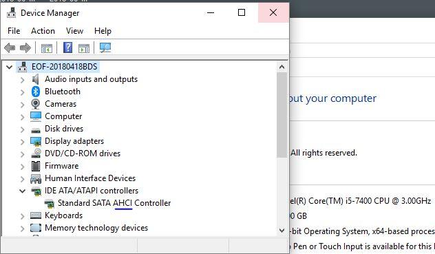 วิธีเช็ค AHCI ใน Device Manager