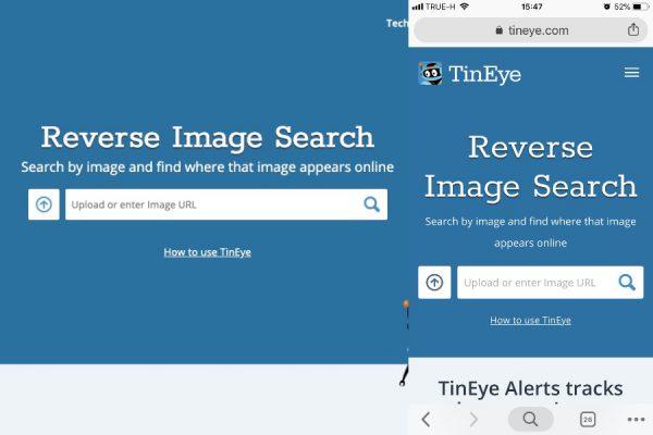 วิธีค้นหาข้อมูลรูปภาพ Tineye.com