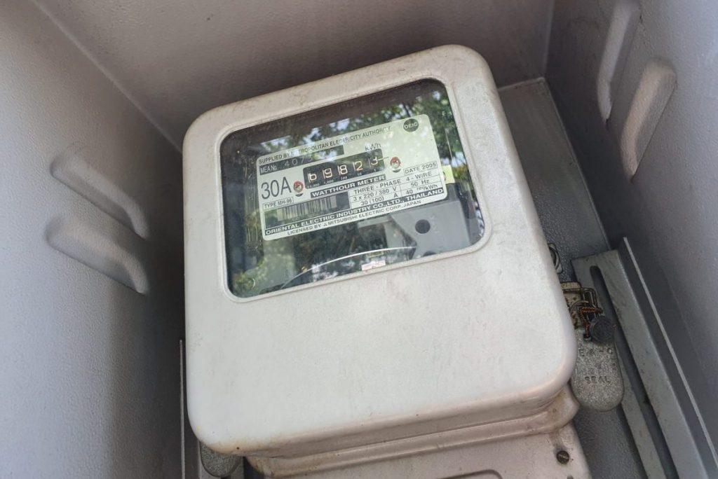 มิเตอร์ไฟฟ้า ขนาด 30 แอมป์ ประกอบบทความ วิธีคิดค่าไฟฟ้า