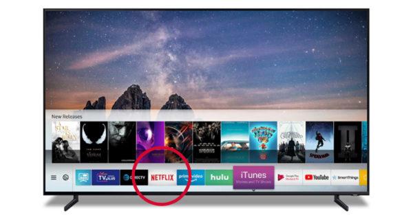แอป Netflix บนทีวี Samsung