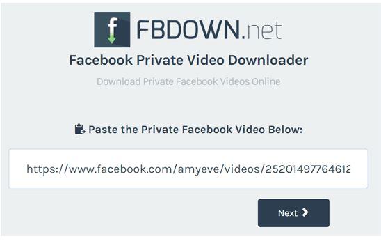 วิธีโหลด FB Private Video ขั้นตอนสุดท้าย